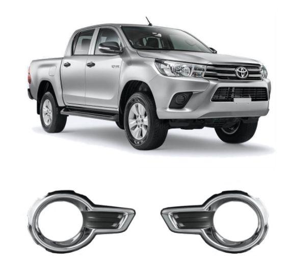 Aplique Cromado Para Farol Auxiliar da Toyota Hilux Aro Menor