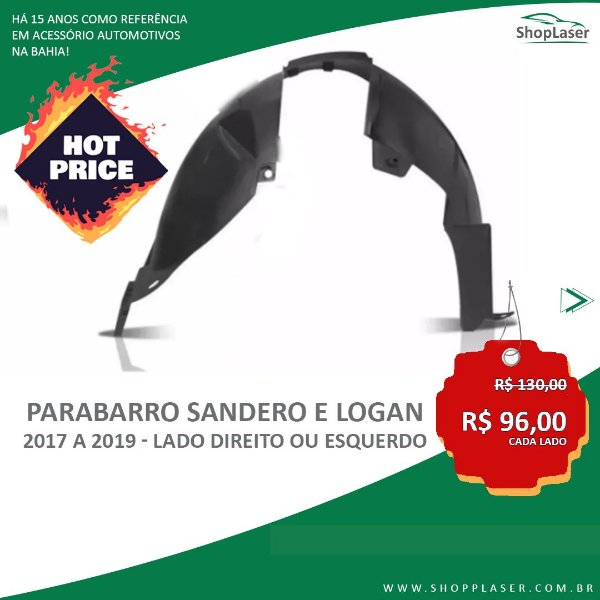 ParaBarro/Lameiro Dianteiro Para Sandero e Logan - 2017 a 2019 - Lado DIREITO