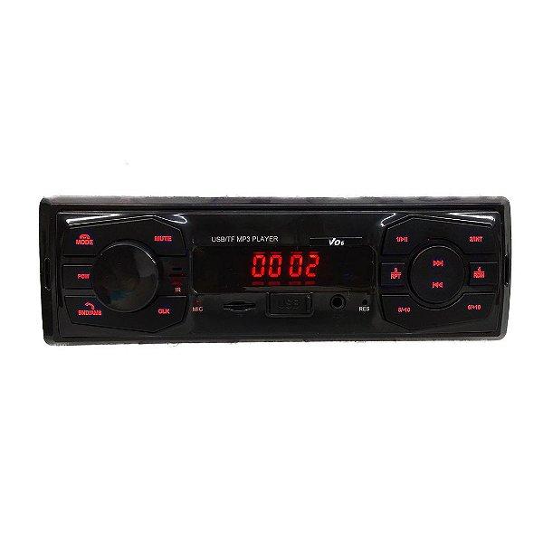 Rádio MP3 Com Bluetooth e Led Vermelho - MK2