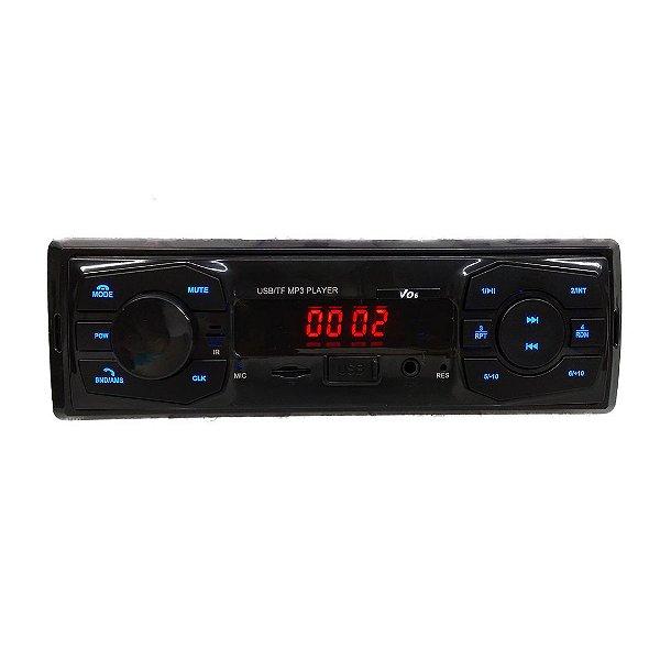 Rádio MP3 Com Bluetooth e Led Azul - MK2