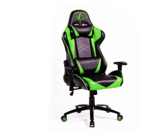 Cadeira Gamer Verde e Preta - Vo6 - 12x Sem Juros