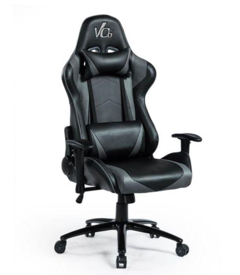 Cadeira Gamer Cinza e Preta - Vo6 - 12x Sem Juros