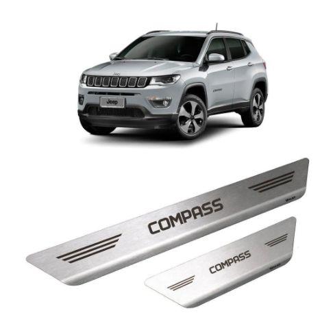 Soleira em Aço Inox para Jeep Compass 2017 a 2021