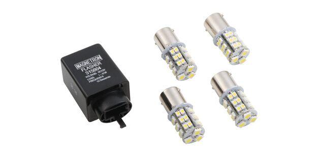 Kit Relé de Pisca (2 Pinos) com Lâmpada LED Branco (33 LEDs) HONDA E YAMAHA 90208251