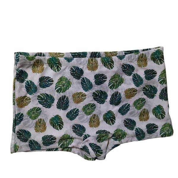 Sunga Boxer Cinza Costela Adão Verde 3007