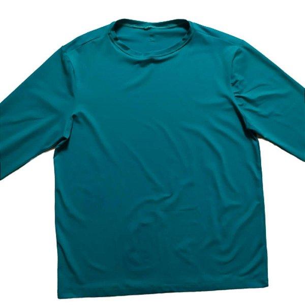 Camisa Com Proteção Solar Adulto Verde Água 6008