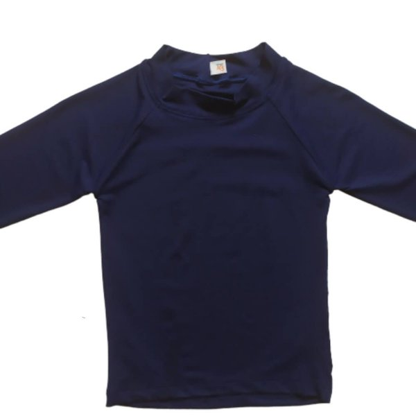 Camisa Com Proteção Solar Infantil Azul Marinho 6010