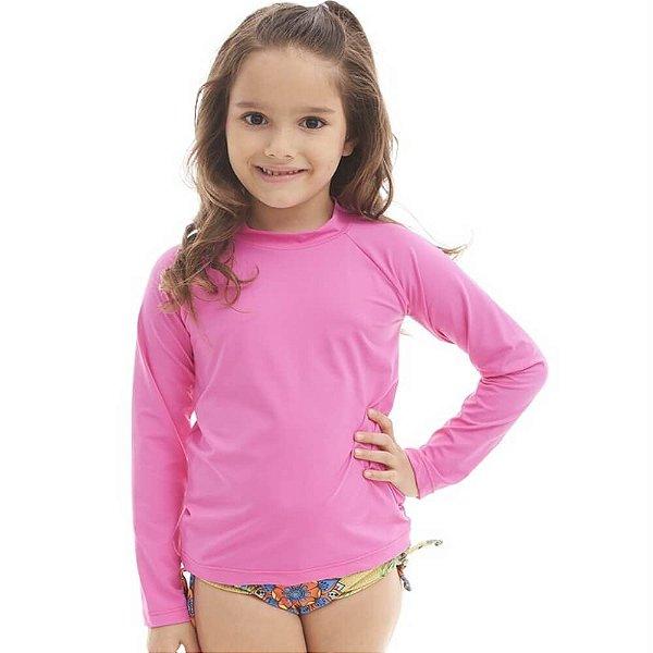 Camisa Com Proteção Solar Infantil Pink 6010