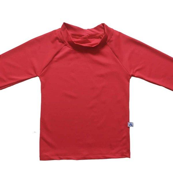Camisa Com Proteção Solar Infantil Vermelho 6010