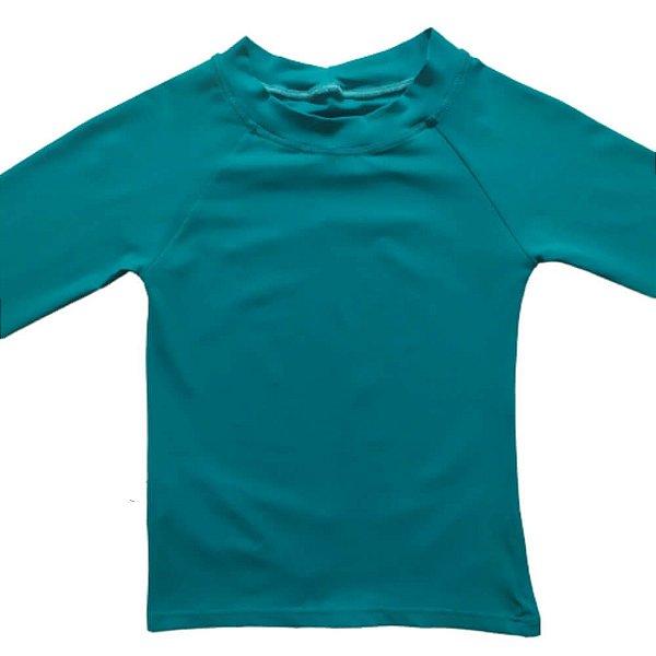 Camisa Com Proteção Solar Infantil Verde Água 6010