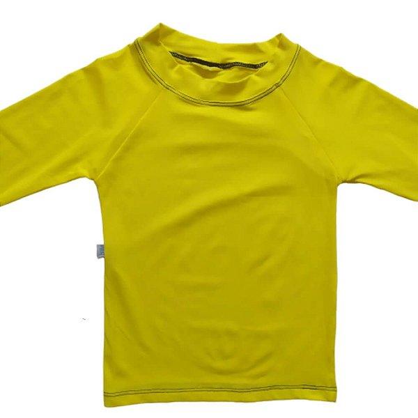 Camisa Com Proteção Solar Infantil Amarelo 6010
