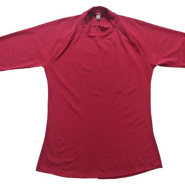 Camisa Proteção Solar Gola Alta Fucsia 6007A