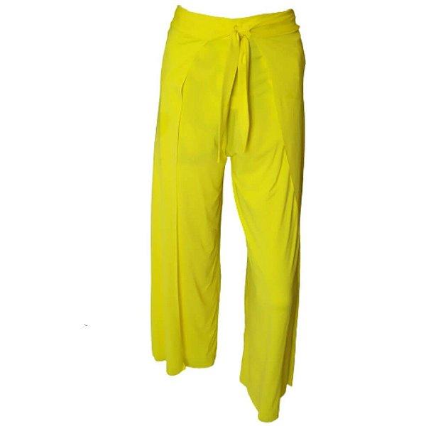 Saída de Praia Calça Pantalona Amarelo 5052