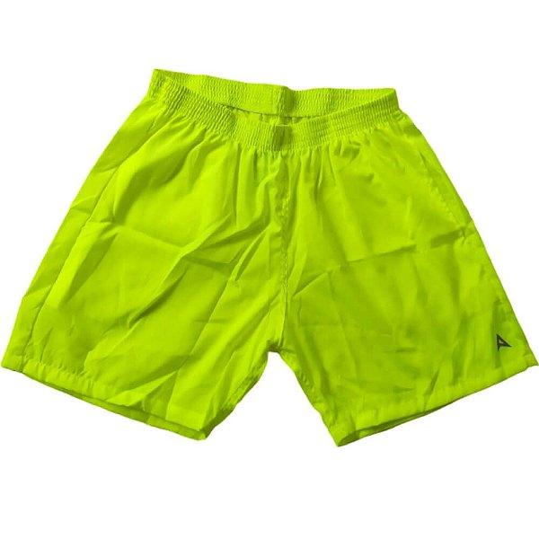 Short Masculino Tactel Amarelo Fluor 3013