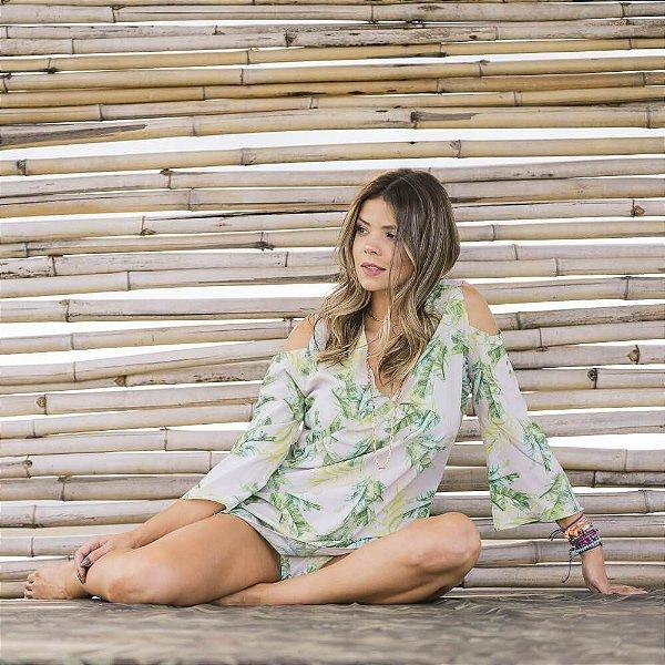Saída de Praia Cinza Folhagem 5081
