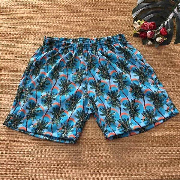 Short Masculino Tactel Azul Coqueirinhos 3013