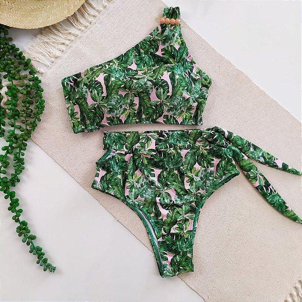 Conjunto Biquini Karine Rosê e Verde 2158 e 1093