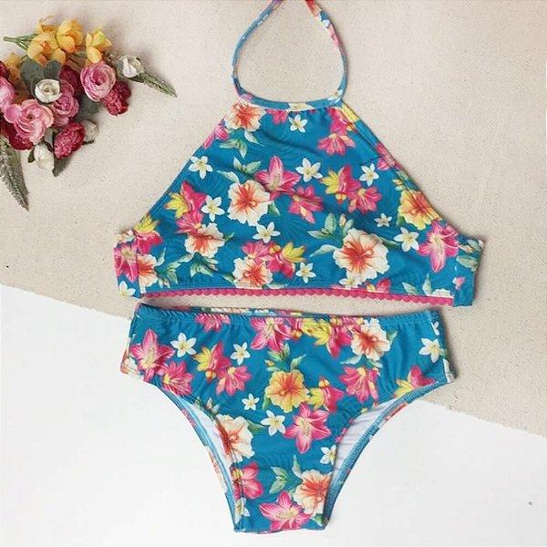 Biquini Infantil Floral 8026
