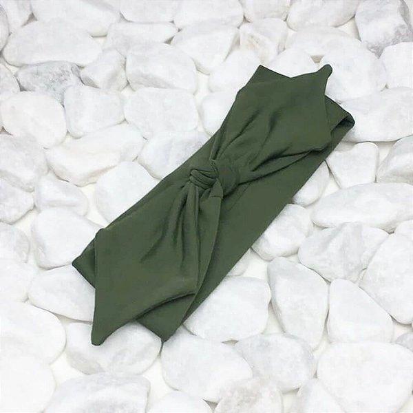 Turbante Cor Verde Militar