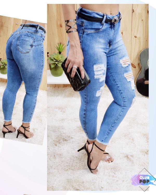 Calça Blue Jeans Skinny  Destroyed Valentin