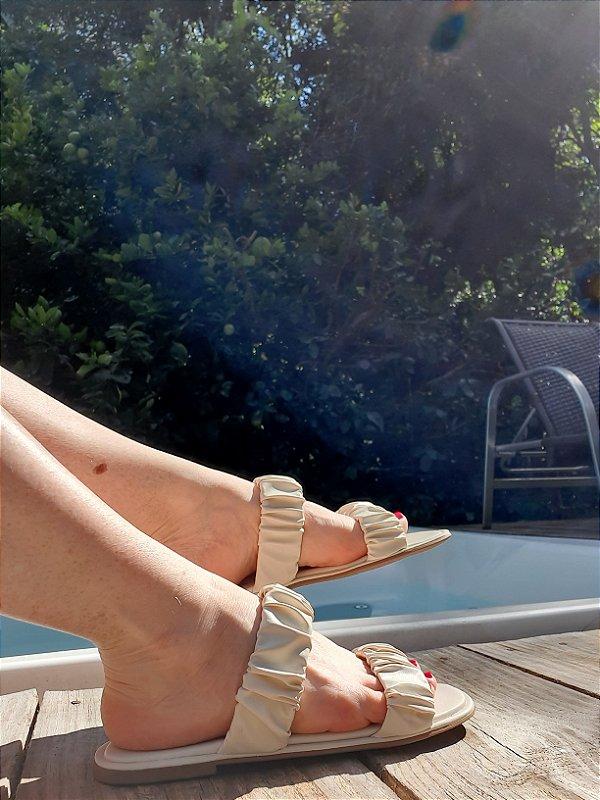 Rasteira Andreia off white