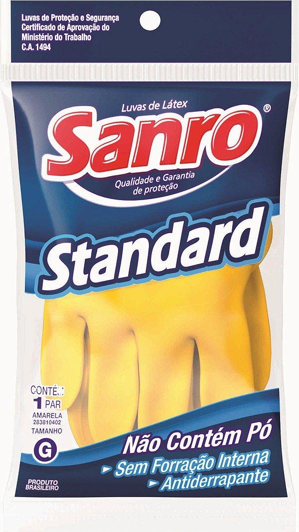 Luva Látex SANRO STD (amarela) CA1.494