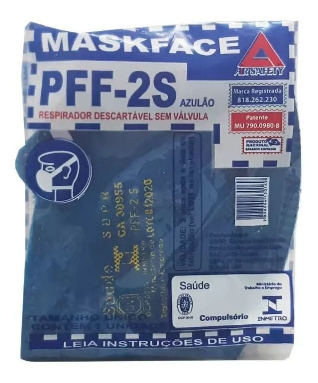 Air Safety - Respirador PFF2 (maskface) CA38.955