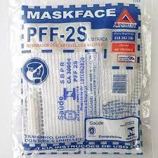 Respirador PFF2 BRANCO/AZUL (maskface) c/ válvula CA38.954