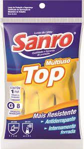 Luva Látex SANRO TOP (amarela) CA40.044