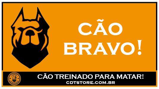 Placa CDT Cão Bravo