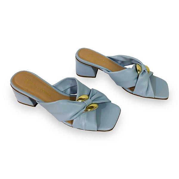 Tamanco Feminino Giulia Domna Eco Soft Azul