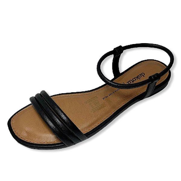 Sandália Rasteira Dakota Z6231 COR PRETO