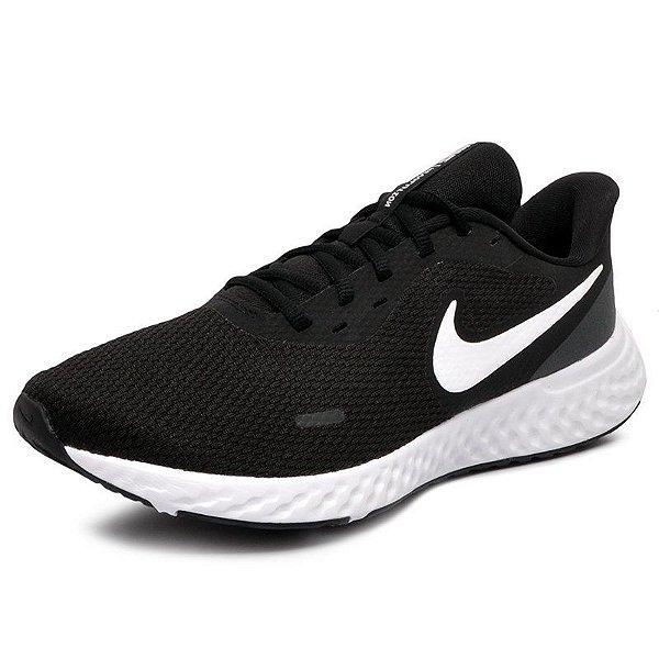 Tênis Esportivo Masculino Nike Revolution 5 BQ3205 COR PRETO