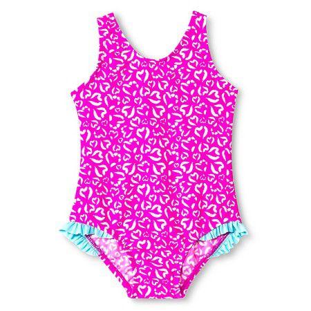 Maiô com proteção UV 50+ rosa estampa corações Just one You made by CARTERS