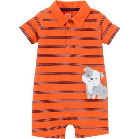 Romper em malha gola polo Cachorrinho Child of Mine made by CARTERS