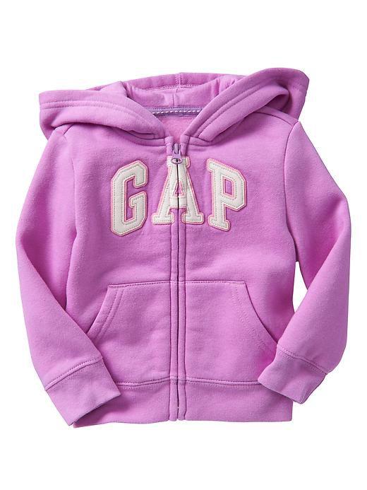 Casaco moletom flanelado com capuz lilás - GAP