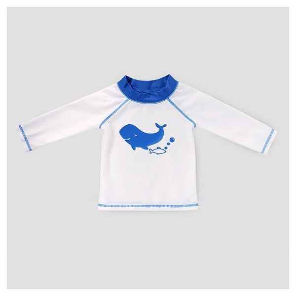 Camiseta manga longa com proteção UV 50+ Baleia - CAT&JACK