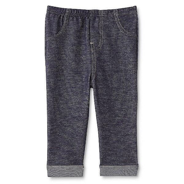 Calça imita jeans com vira na barra - WONDERS