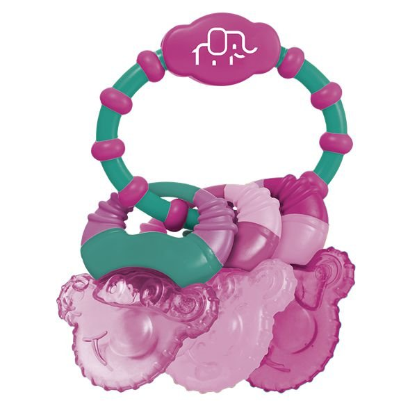 Mordedor resfriável com água Cool Rings rosa - MULTIKIDS BABY