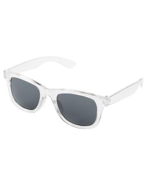 Óculos de sol 4-8 anos transparente com glitter proteção 100% UVA/UVB - CARTERS