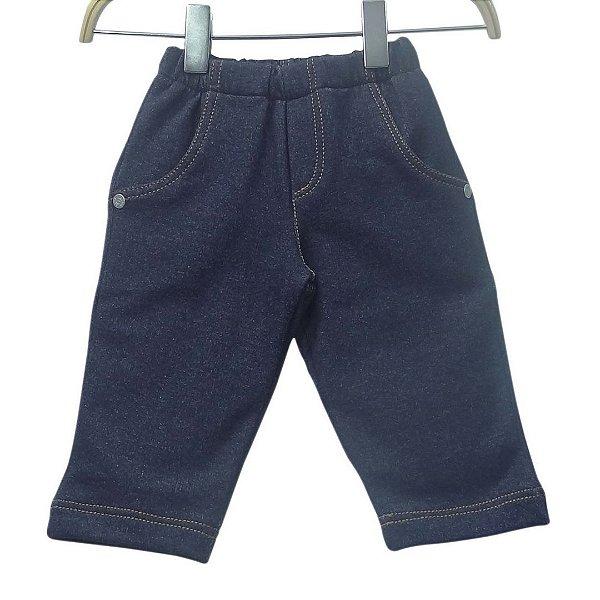 Calça em moletinho imita jeans - BABY FASHION
