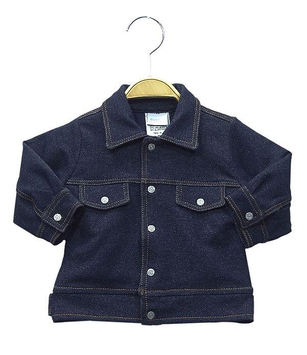 Jaqueta em moletinho imita jeans - BABY FASHION