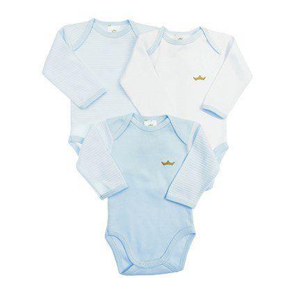 Kit body 3 peças azul e branco - BEST CLUB