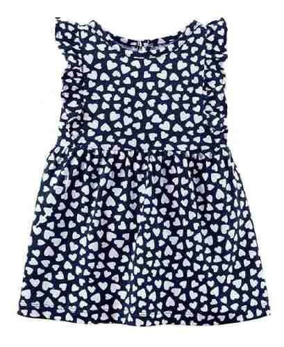 Vestido azul de coração - Carter's