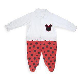 Macacão bordado vermelho e branco - Keko Baby