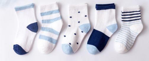 Kit 5 pares de meias azul e branco