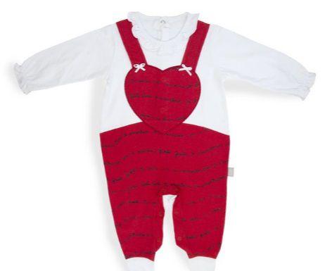 Macacão jardineira coração - Keko Baby