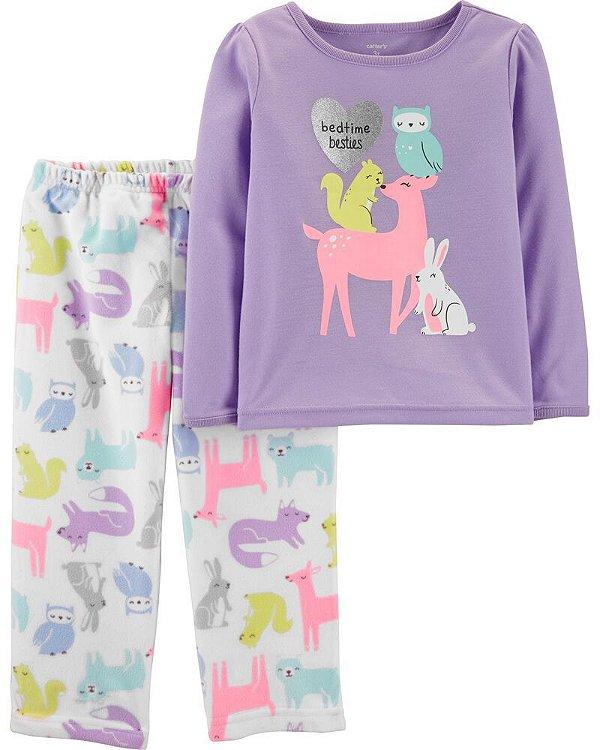 Conjunto 2 peças - pijama bichinhos - Carter's