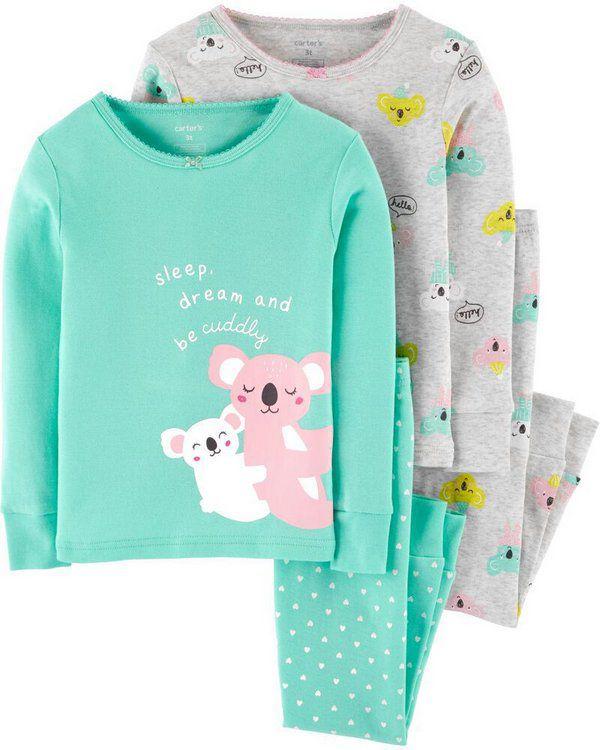 Conjunto 4 peças - pijama Coala - Carter's