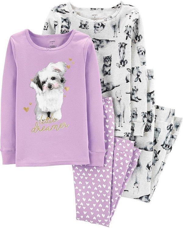 Conjunto 4 peças - pijama Cachorrinho - Carter's